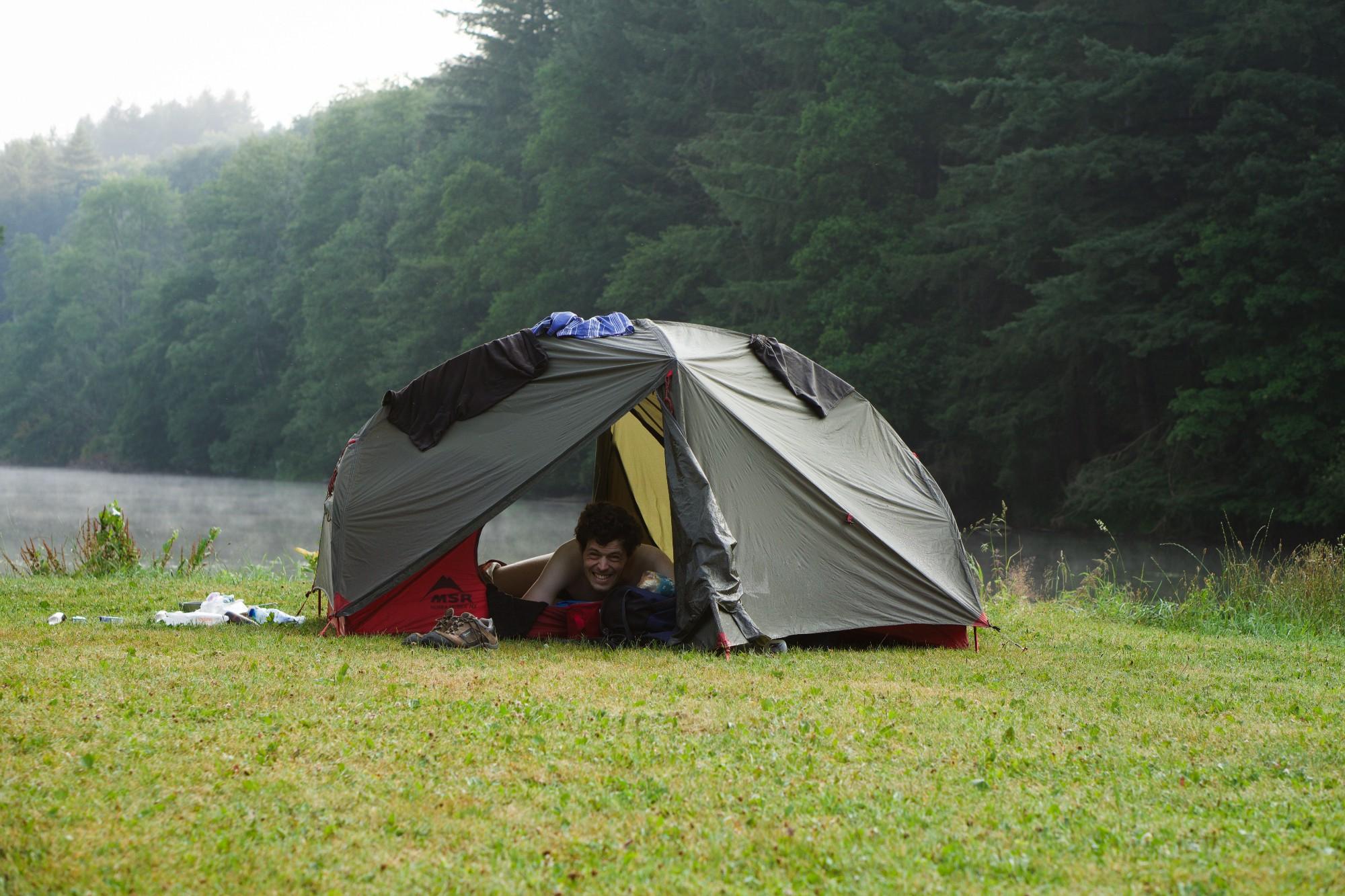 Tent aan de Semois rivier
