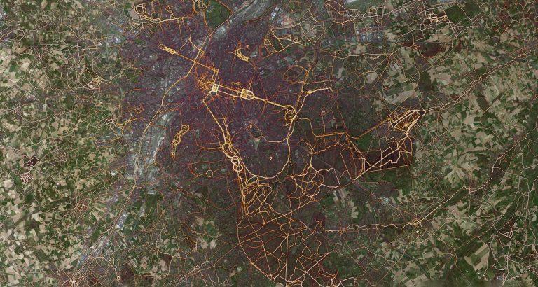 Heatmap van loop activiteiten in Brussel